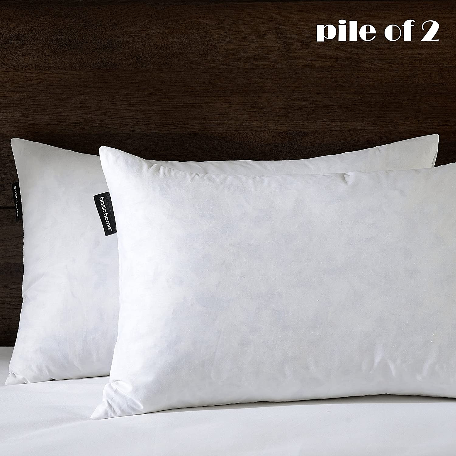 Basic Home - Rectangle Down-Feather Throw Pillow Insert