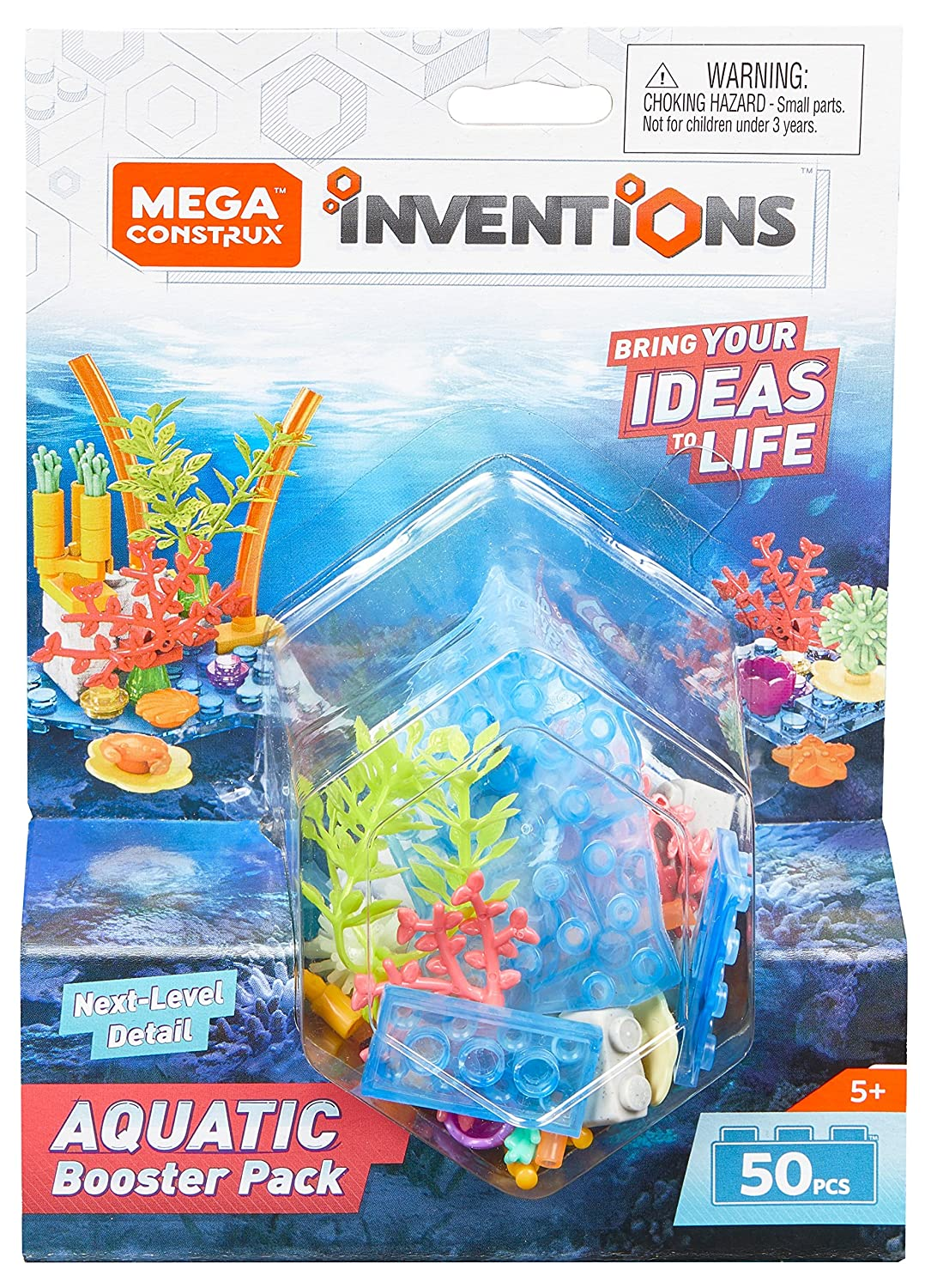 Amazon.com: Mega Construx Inventions Aquatic Building Set Booster ...