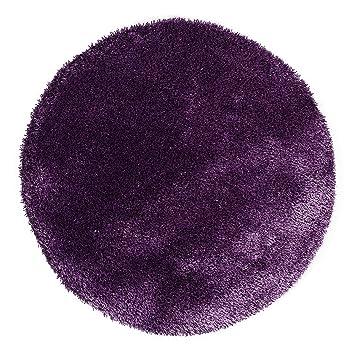 KiYou Shaggy KS- 106 Tapis Rond Violet 100 cm: Amazon.fr: Cuisine ...