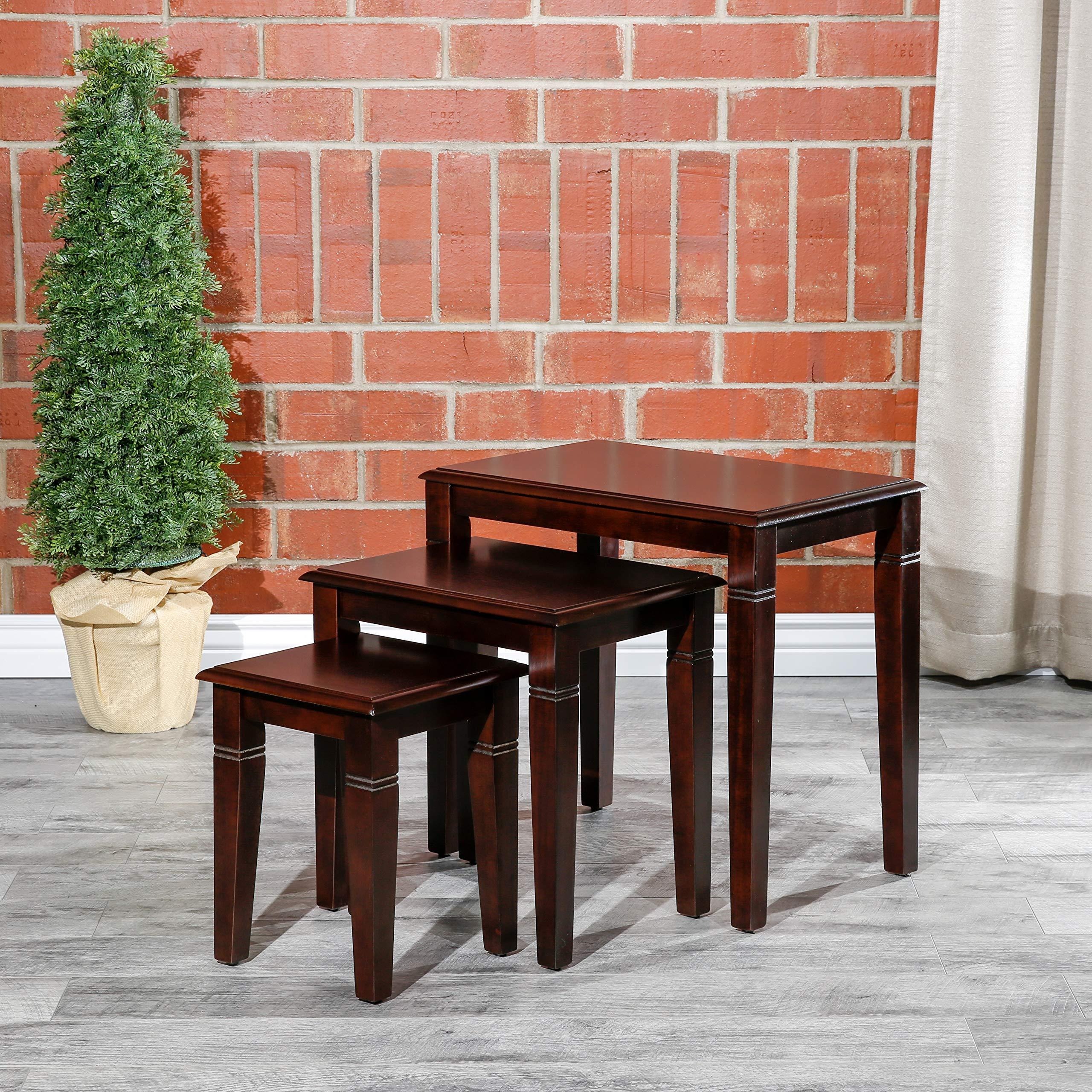 DTY Indoor Living Golden 3-Piece Nesting Table Collection - Dark Brown by DTY