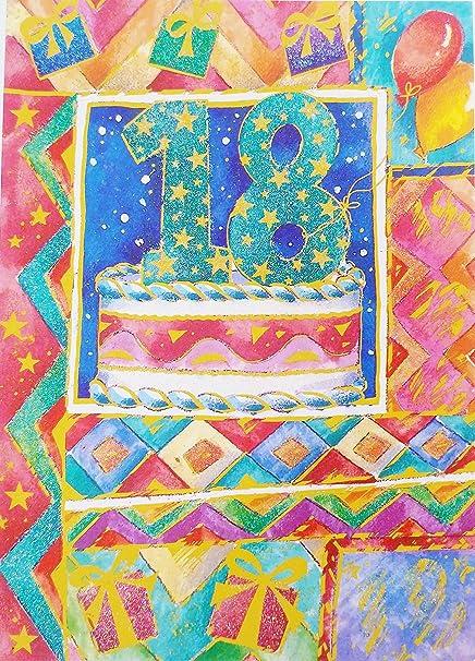 Happy 18th decimoctavo cumpleaños tarjeta de felicitación ...
