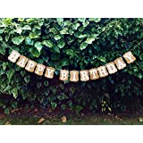 Happy Birthday Bunting Banner Cardboard Birthday Party Decoration, Vintage by Wedding Touches