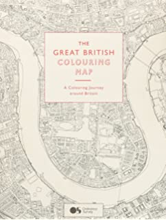the great british colouring map a colouring journey around britain colouring books