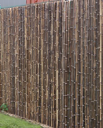 De Commerce Robuster Bambus Holz Sicht Schutz Zaun Aty Nigra I