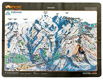 Wipeout Piste Map Lens Cloth Zermatt Cervinia Amazoncouk