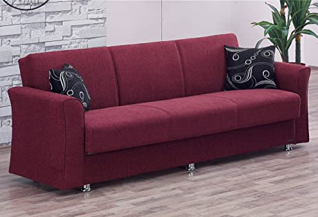 BEYAN Ohio Collection Convertible Folding Sofa Bed Sleeper With Storage  Space, Includes 2 Pillows,