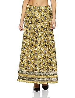 ab2876588 Fabindia Women's Full Cotton Maxi Skirt: Amazon.in: Clothing ...