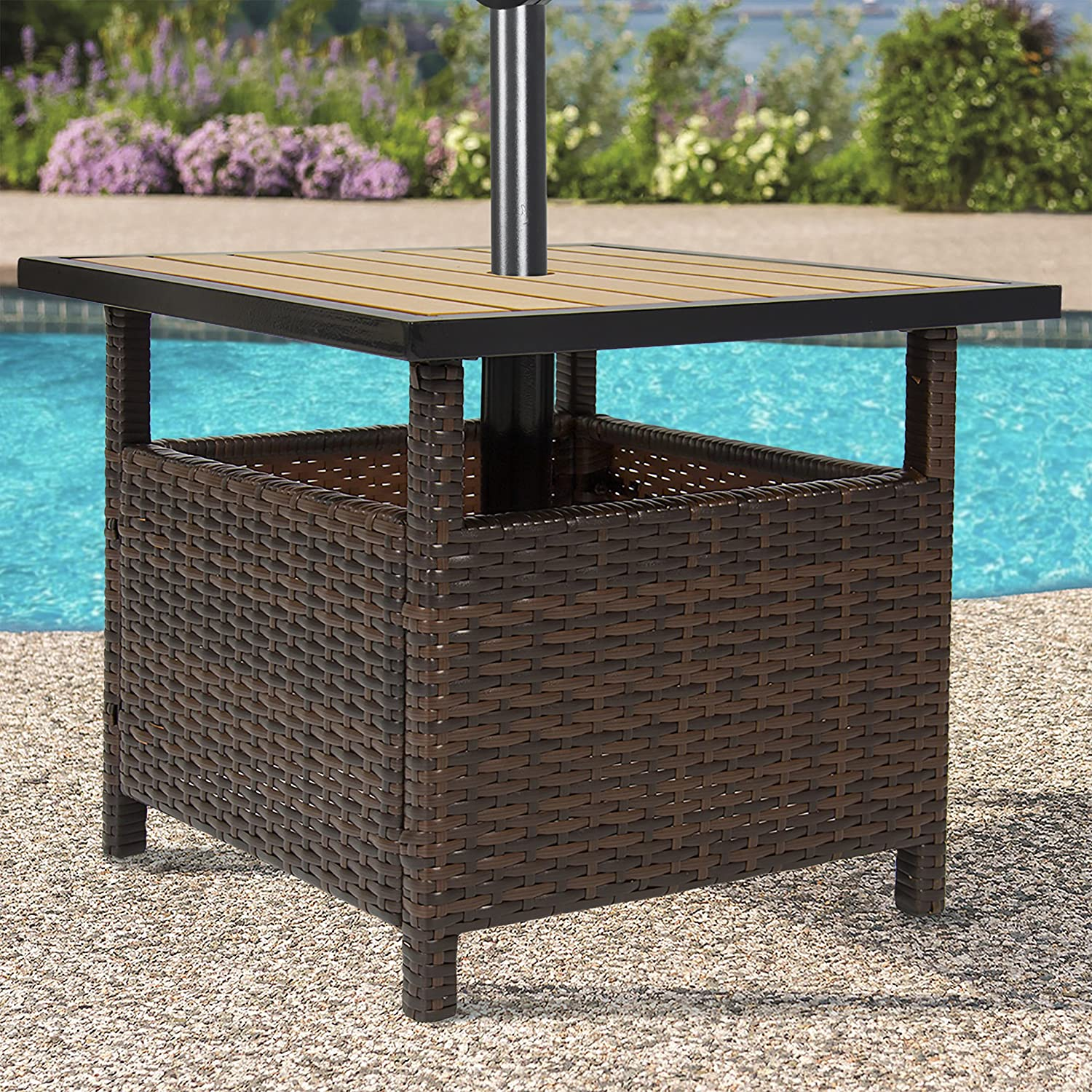 Amazoncom Best Choice Products Patio Umbrella Stand Wicker