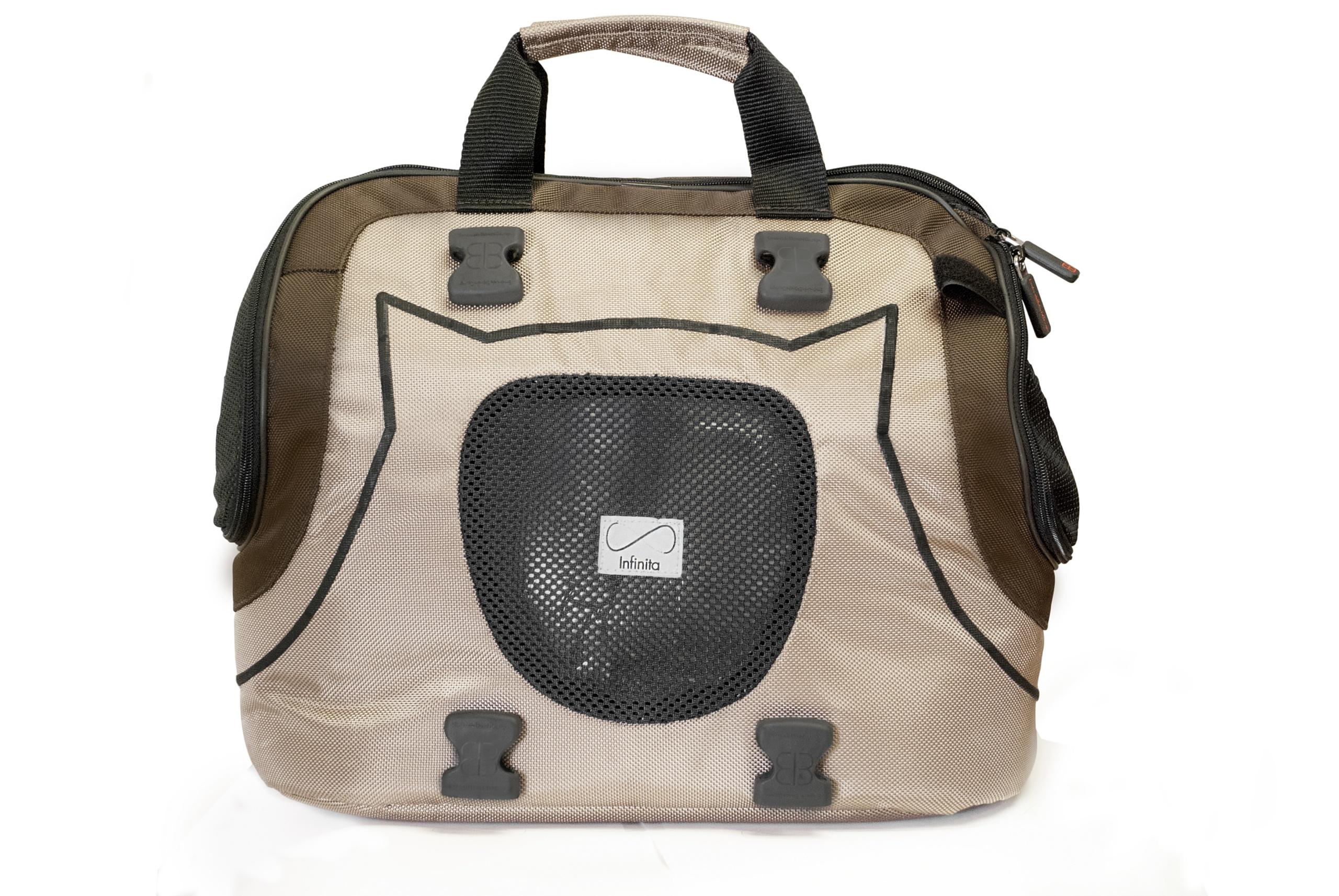 Emanuele Bianchi Design Infinita Universal Sport Bag/Carrier for Pets, Tan/Brown