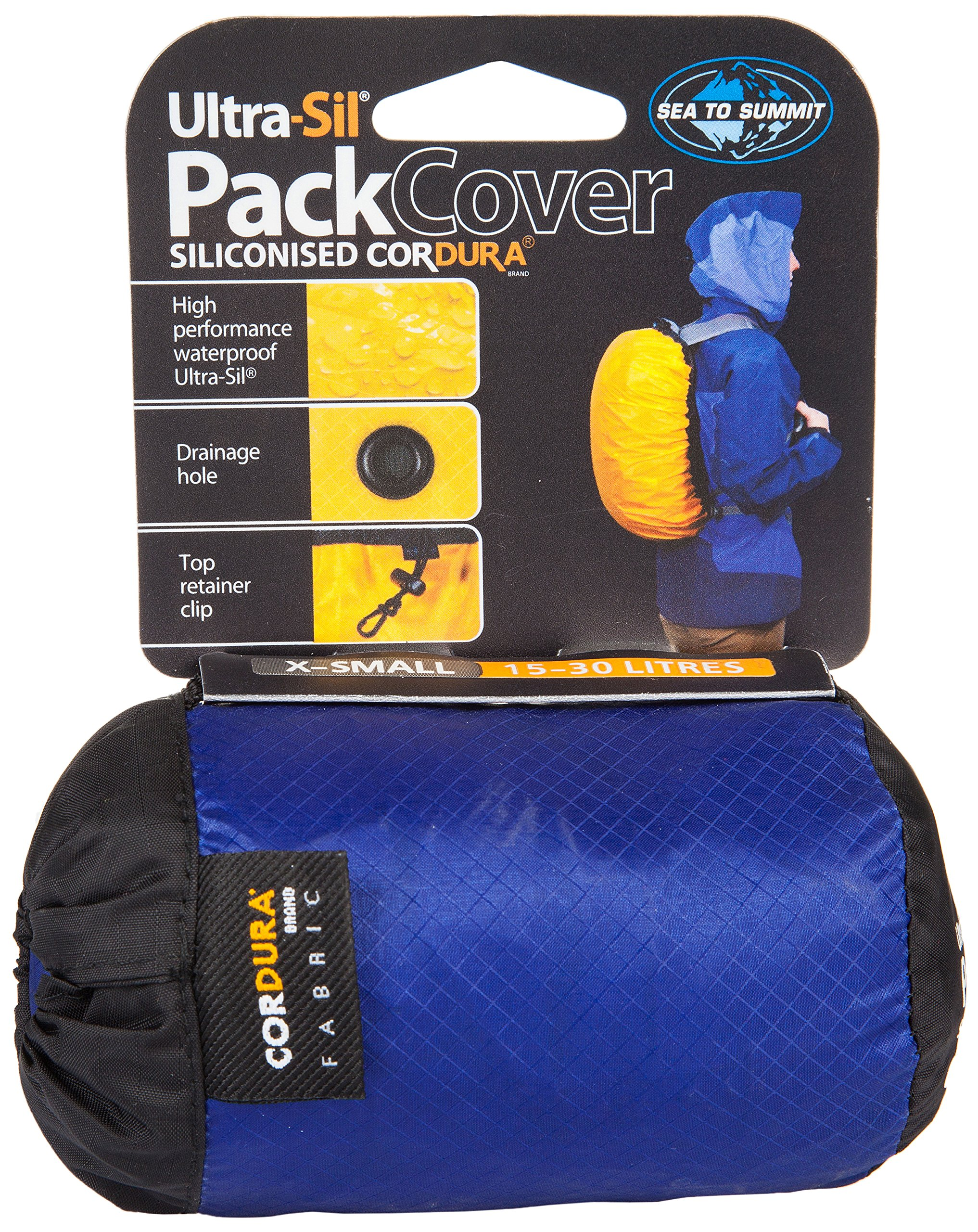 Sea to Summit SN240 Ultra-Light Siliconized Cordura Pack Cover,Blue,Large by Sea to Summit