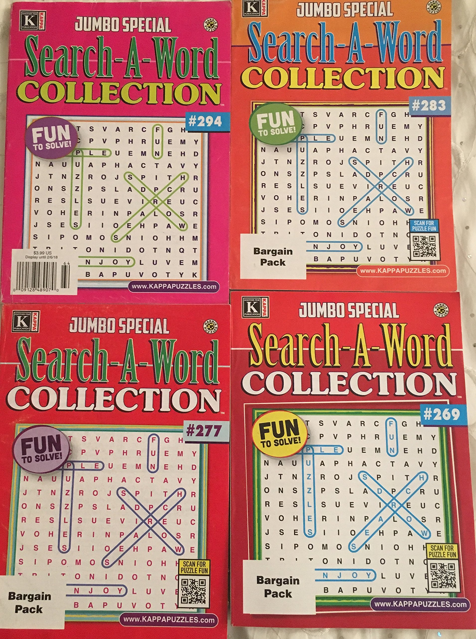 e0d8d8c675 Lot of 4 Kappa Jumbo Special Search-A-Word Collection Word-Find ...