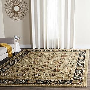 Safavieh English Manor Collection EMS739A Handmade Sage and Navy Premium Wool Area Rug (8' x 10')