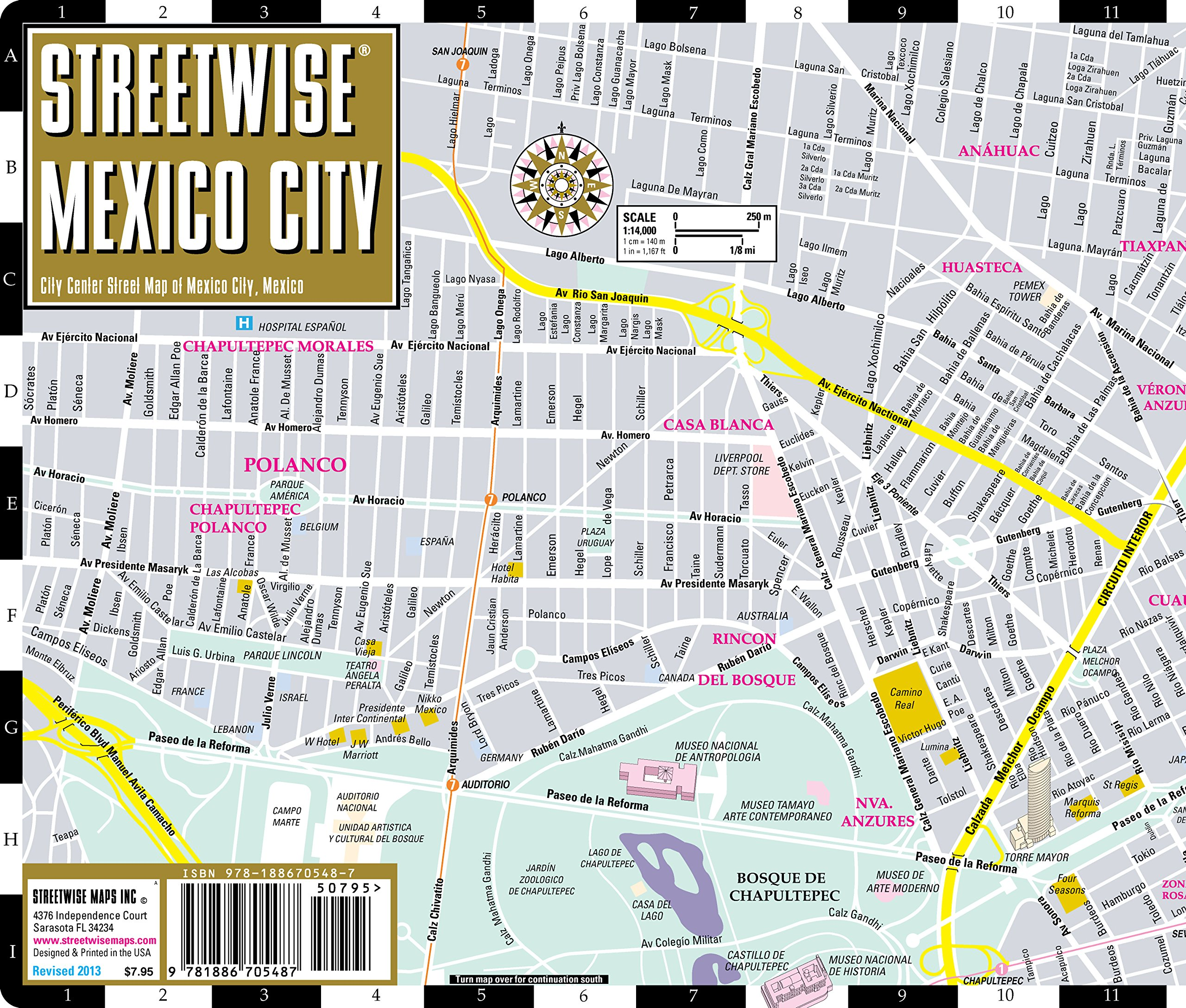 streetwise mexico city map laminated city center street map of mexico city mx folding pocket size travel map with metro map streetwise maps