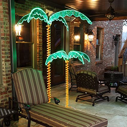 Amazon 7 deluxe tropical led rope light palm tree with lighted 7 deluxe tropical led rope light palm tree with lighted holographic trunk and fronds aloadofball Gallery