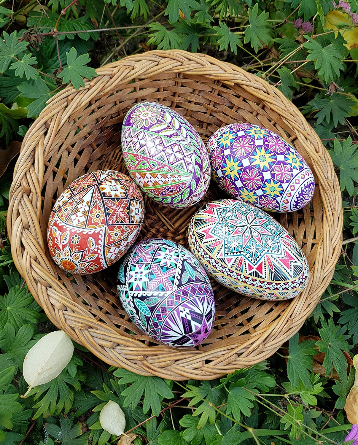 Ukrainian Pysanky gift set kit acid etched brown rustic Easter eggs Mother/'s day gift for mom from daughter farmhouse Easter decor