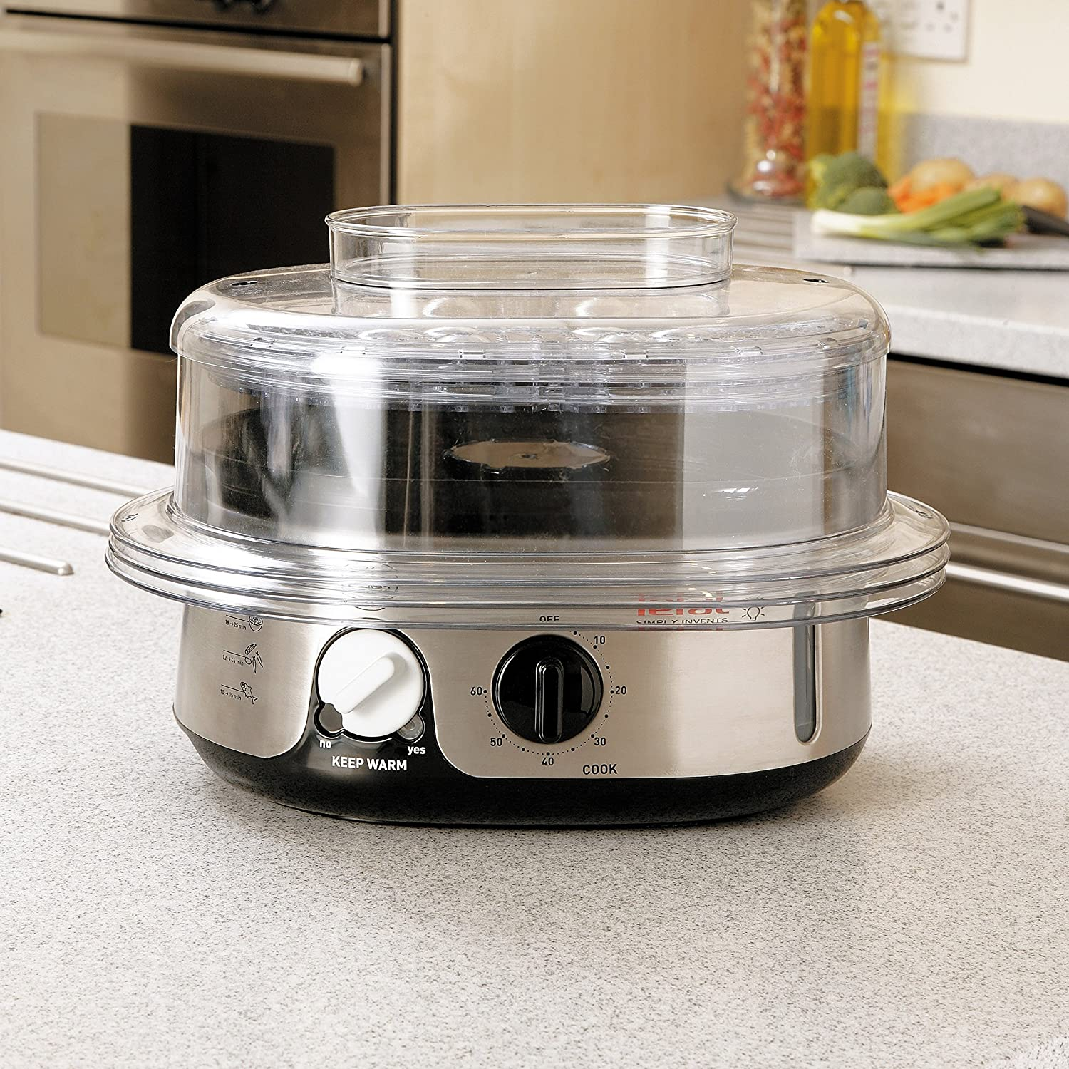 Stainless Steel Tefal Simply Invents Steamer 3 Dismantlable Plastic Bowls