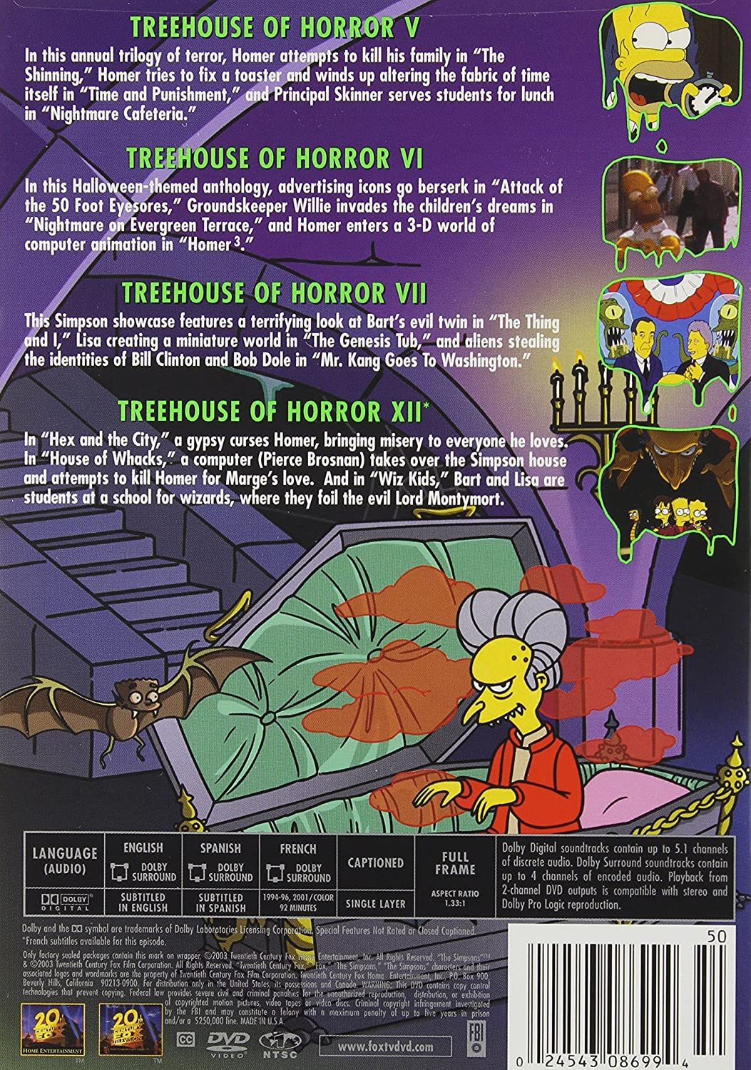 Halloween Simpsons Treehouse Of Horror.Amazon Com The Simpsons Treehouse Of Horror Neil Affleck Bob