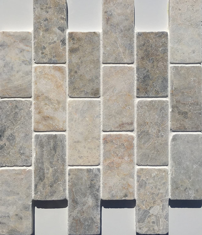 2 x 4 Valencia Marble Mosaic Tile Marble Backsplash Amazon