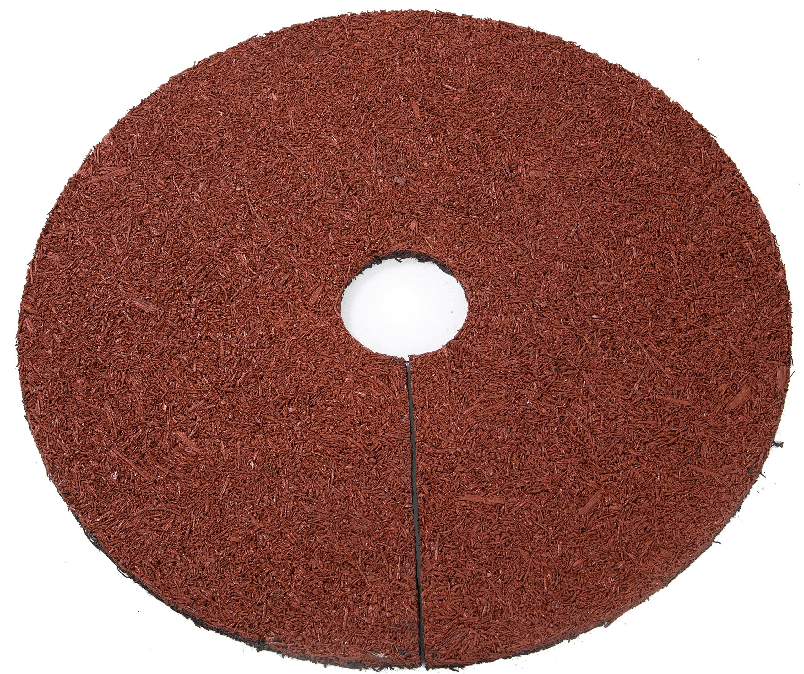 Trademark Innovations Reversible Mulch Ring Tree Protector Mat, 24''