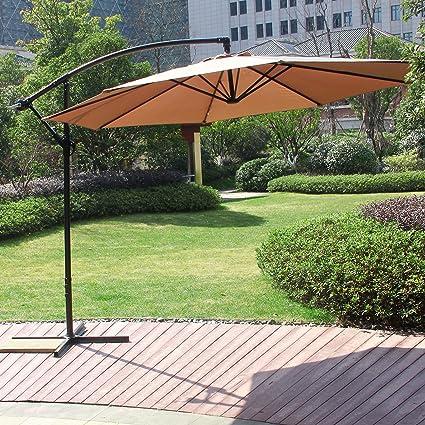Amazon Com Cloud Mountain 10 Ft Cantilever Patio Umbrella Offset