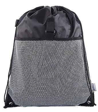 f6590b86da9bab Mato & Hash Drawstring Cinch Bag Backpack With Mesh Pocket Polyester Tote  Sack