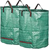 GardenMate 2-Pack 106 Gallons Professional Reusable Garden Waste Bags (H31, D31 inches) - Yard Waste Bags with Double Bottom