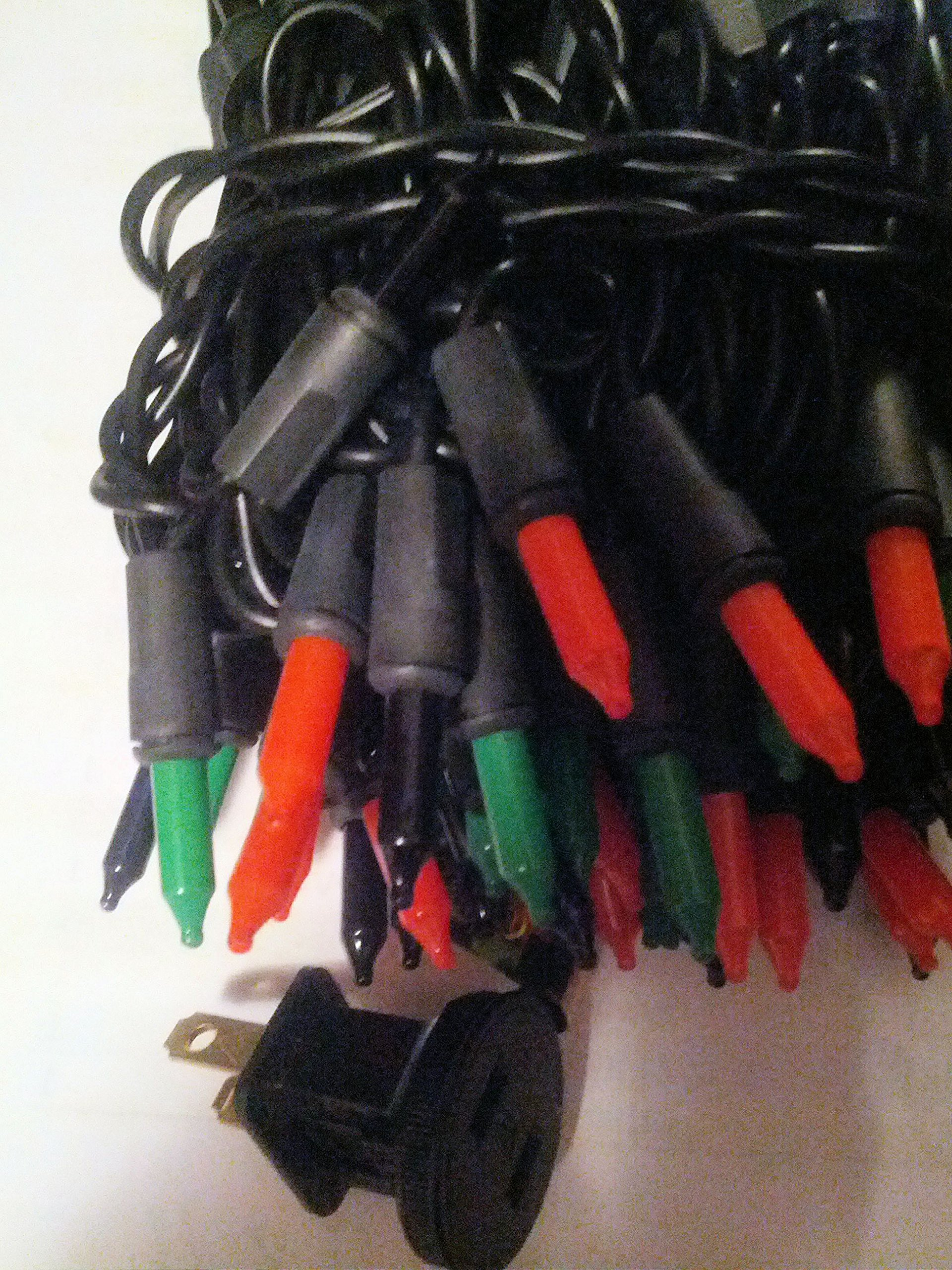 100 Ct Halloween String Light Set, Orange, Green, Purple, Black Cord by Home Accents Holiday (Image #3)