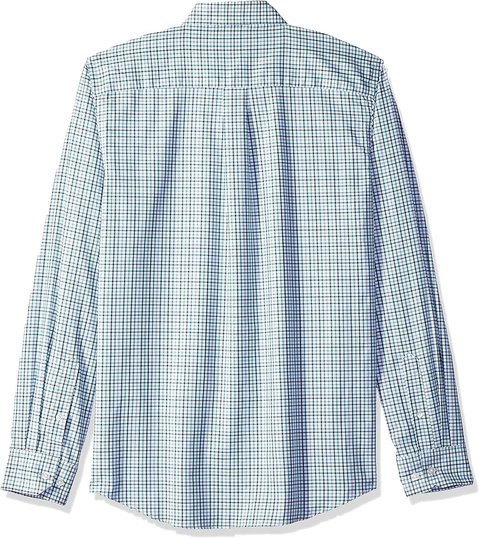 Van Heusen Mens Slim Fit Flex Long Sleeve Button Down Stretch Tattersal Shirt