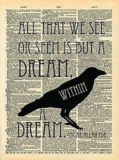 Amazon.com: Edgar Allan Poe The Raven Poem Art Print Cool ...