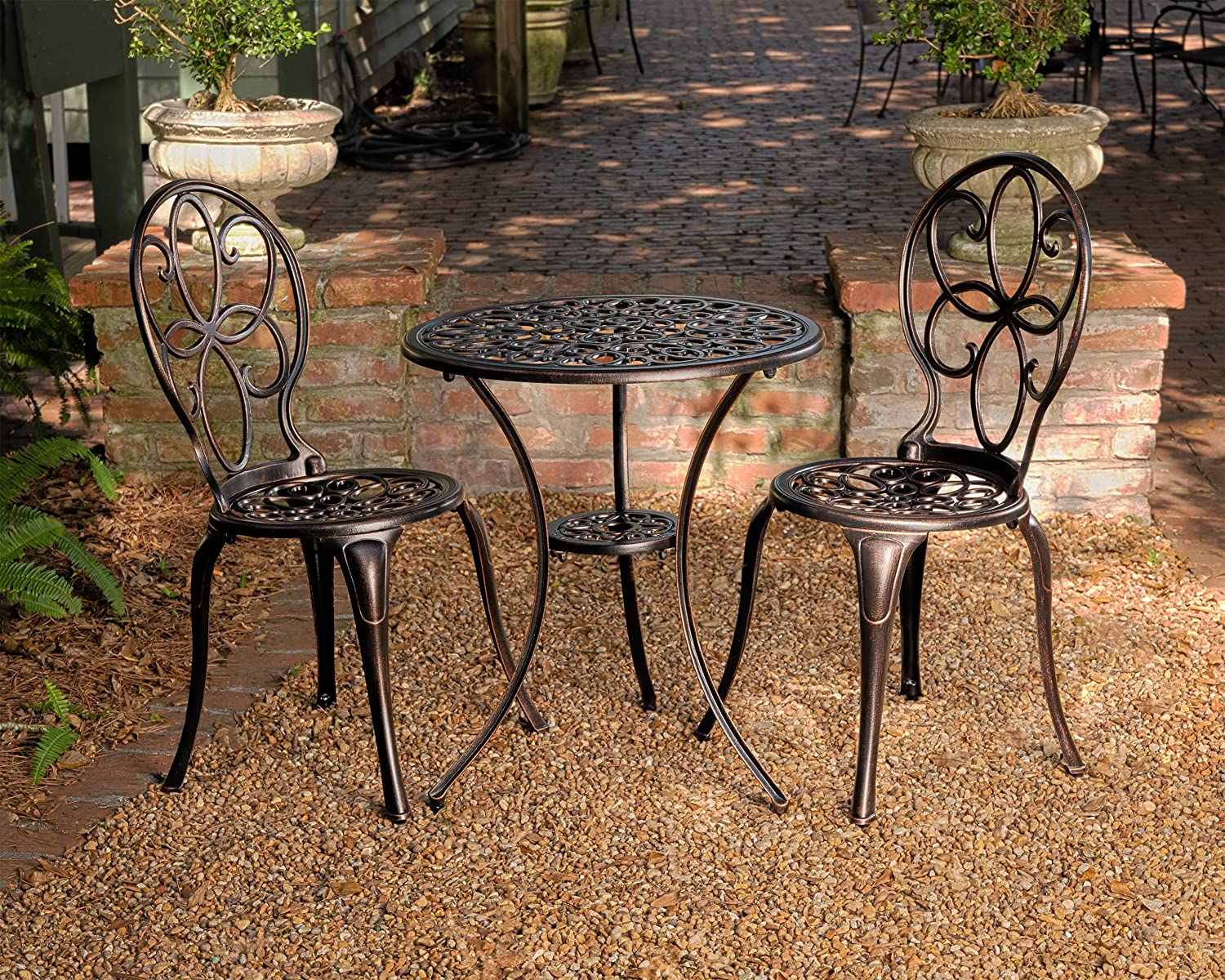 Patio Sense 61490 Arria Bistro Table And Chairs Set