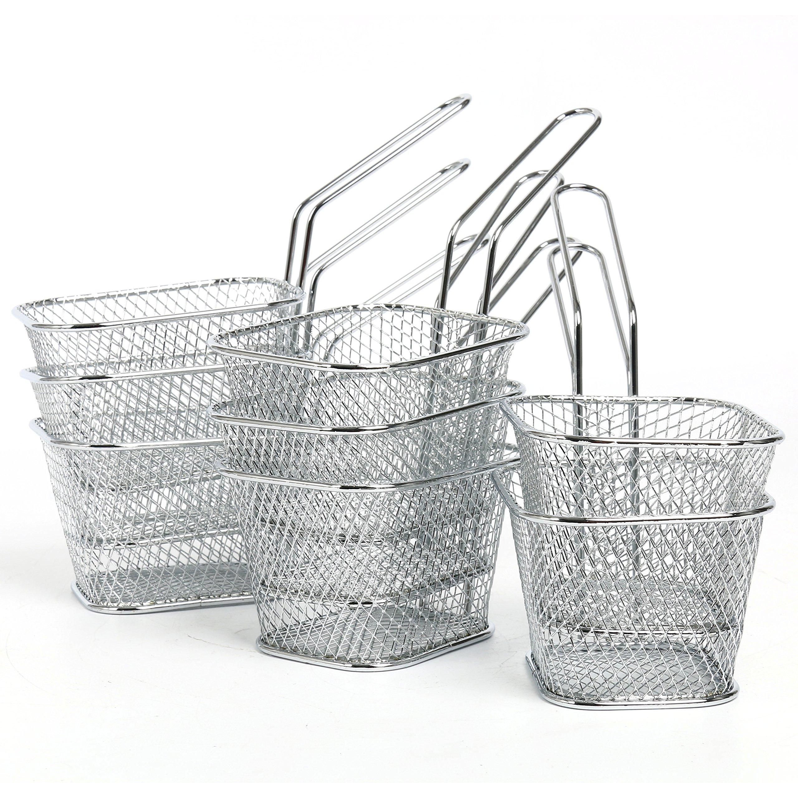 Yaekoo 8Pcs Mini Mesh Wire French Fry Chips Baskets Net Strainer Kitchen Cooking Tools by Yaekoo (Image #3)