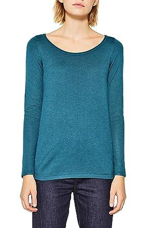 ESPRIT Damen Pullover 087EE1I026, Grün (Dark Teal Green 5 379), X- 012512f39a