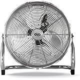 Argoclima Speedy Ventilatore High-Speed Alluminio, Diametro 40 cm, 3 Velocità, Piedini Antiscivolo, Inclinazione Regolabile