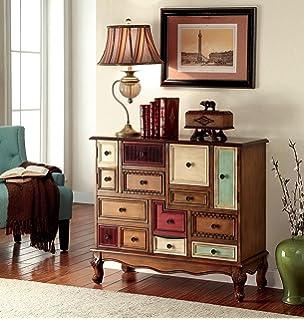 furniture of america zeppo vintage style storage chest antique walnut
