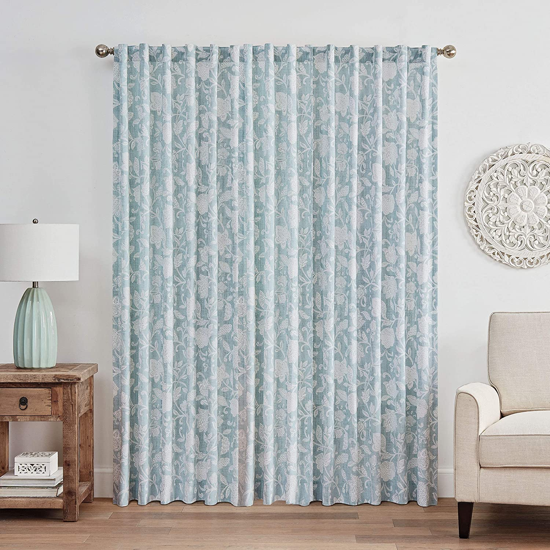 52 x 84 WAVERLY Stencil Vine Rod Pocket Single Panel Privacy Window Treatment Living Room Spa