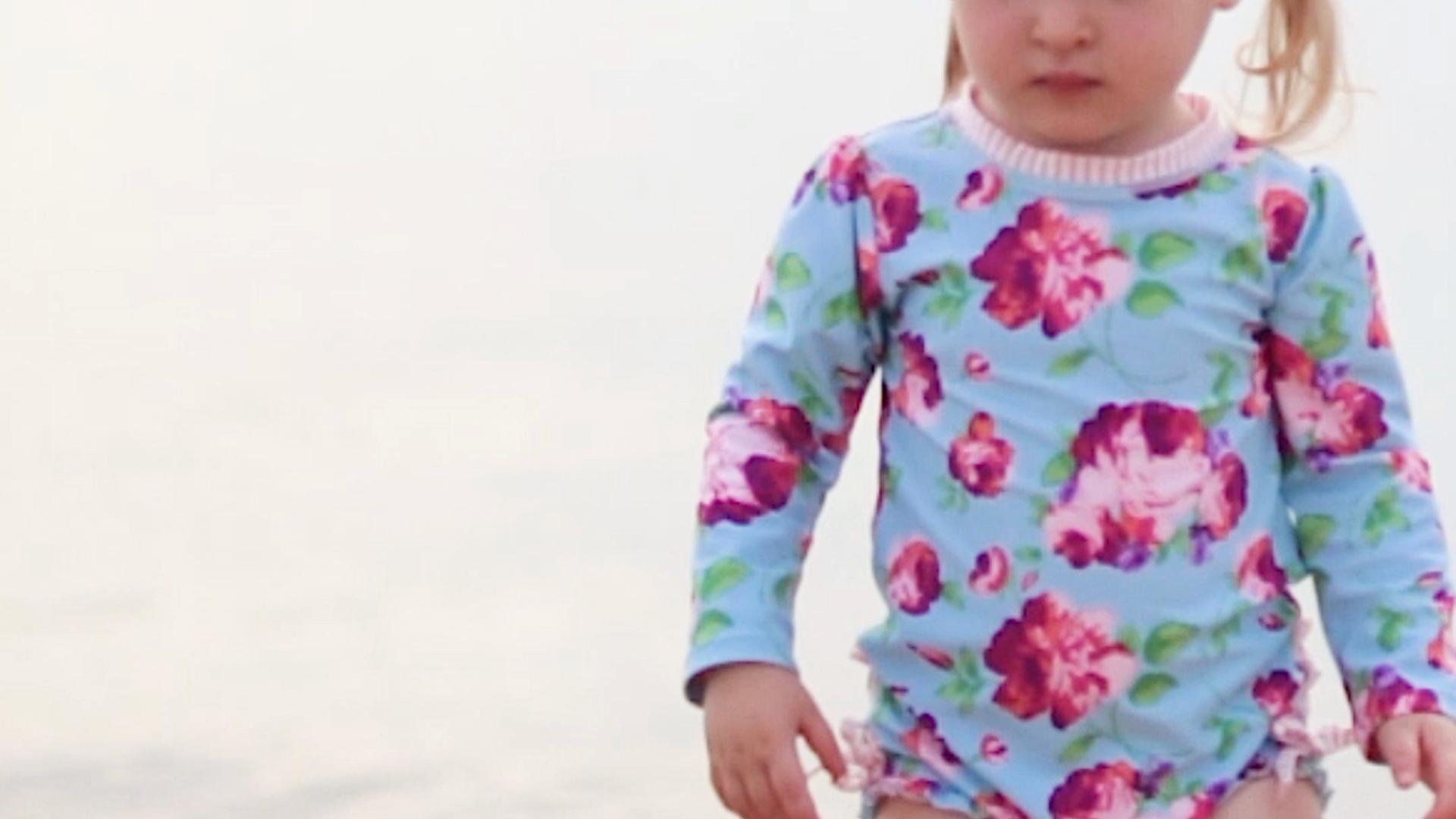 55a3fc2b79 Home / Travel / RuffleButts Little Girls Rash Guard 2-Piece Swimsuit Set – Long  Sleeve ...