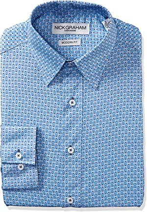 Out with the plain blue dress shirt and in with the fun, fashionable patterned print dress shirts.
