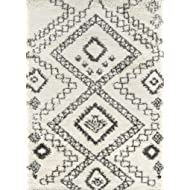 "Momeni Rugs MAYA0MAY-5IVY7A9A Maya Collection, Ultra Thick Pile Shag Area Rug, 7'10"" x 9'10"", Ivory"
