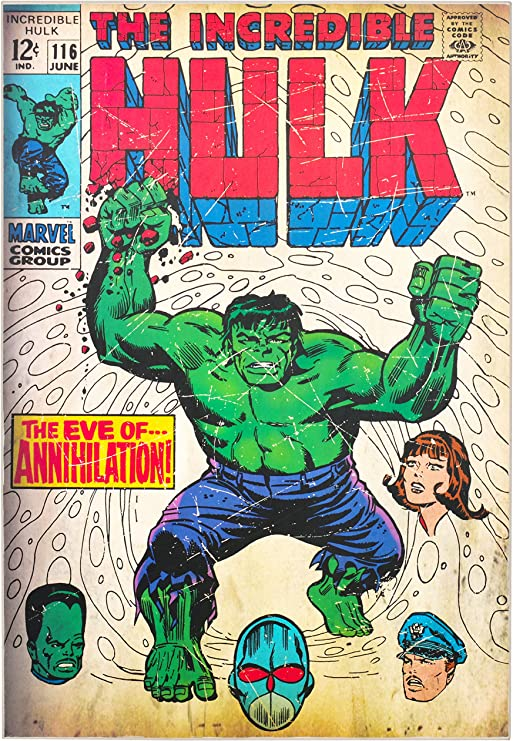 Various Hulk Options Marvel Wooden Wall Art