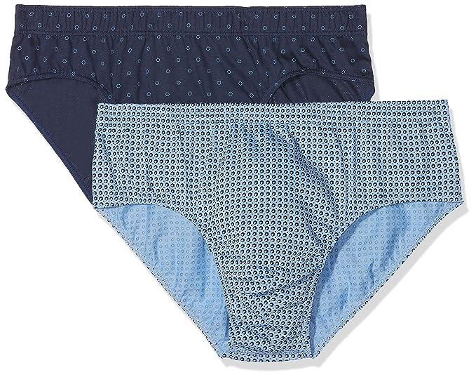 Fantaisie, Pantis para Hombre, Azul (Marine/Ciel/Marine), X-Large(Pack de 2) Eminence