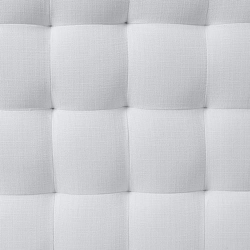 Amazon Brand Ravenna Home Rai Tufted Arched Armless Loveseat Bench Settee, 52 W, Cream