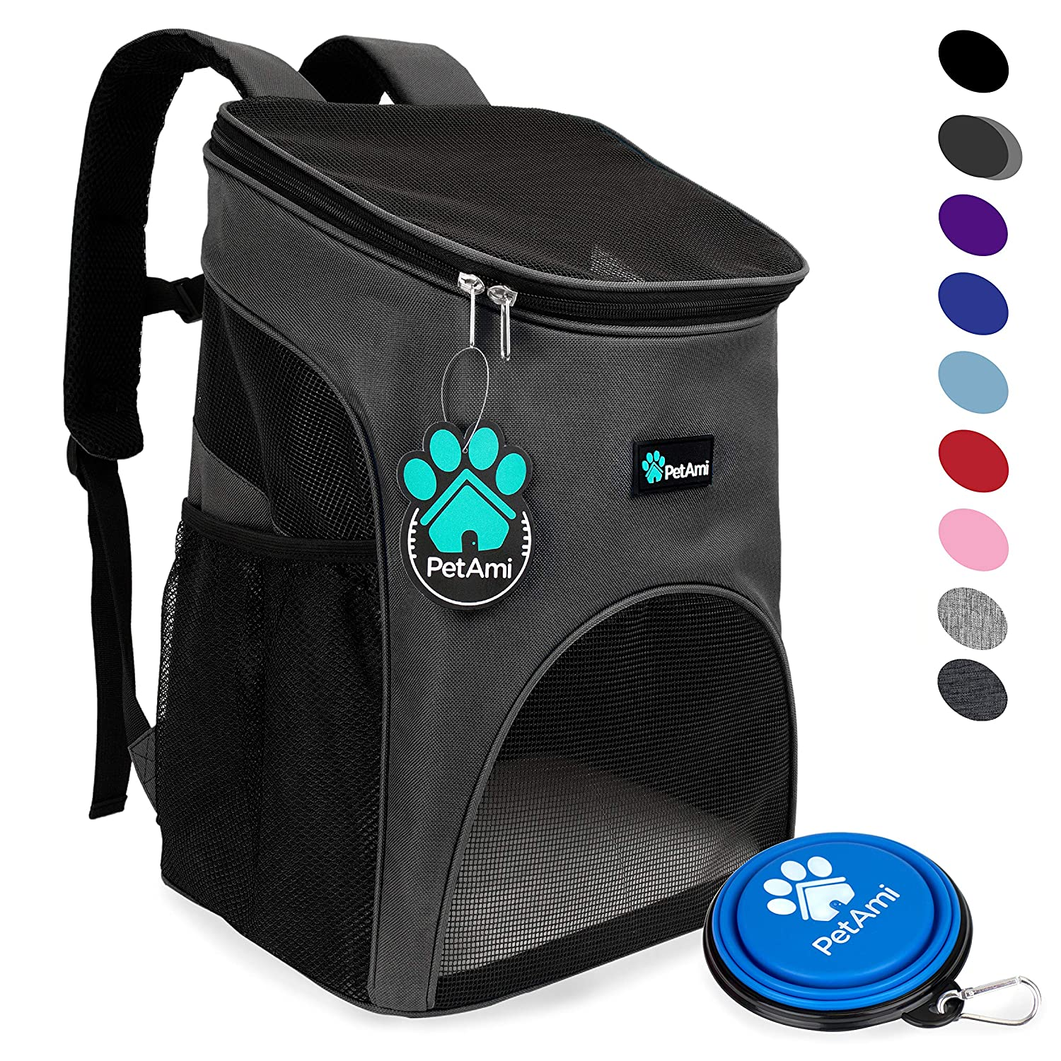 438fd64fdbc Amazon.com   PetAmi Premium Pet Carrier Backpack for Small Cats and ...