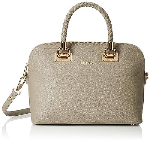LIU JO ANNA SHOPPING BAG N66082E0087-71212 Tortora  Amazon.it  Scarpe e  borse 815fc51f998