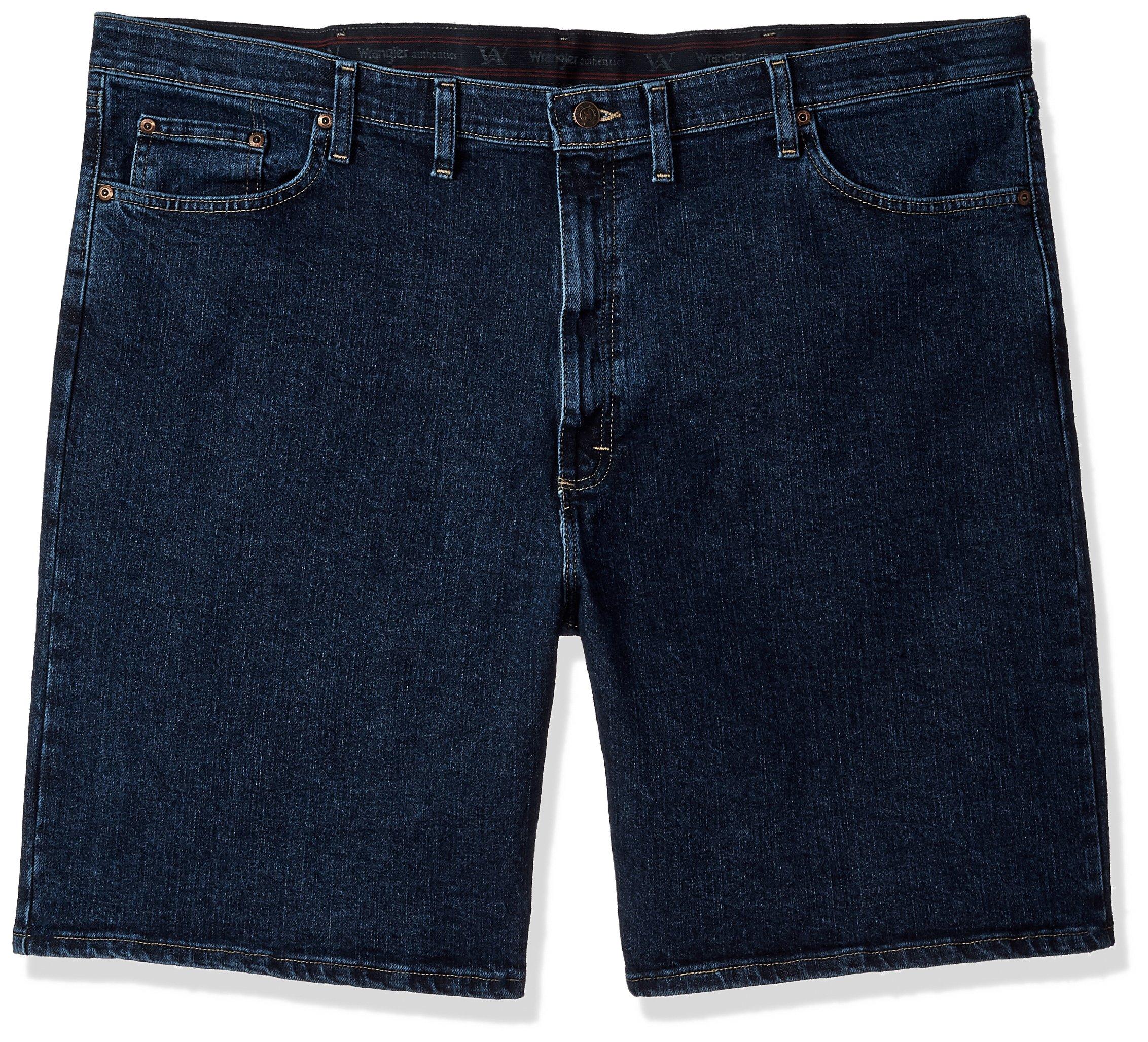 Wrangler Men's Big and Tall Authentics Comfort Flex Denim Short, Dark Stonewash, 48