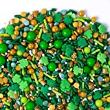 Sweets Indeed Lucky Leprechaun Sprinklefetti, 8 ounce, Shamrocks, Clovers, Sprinkles for Baking