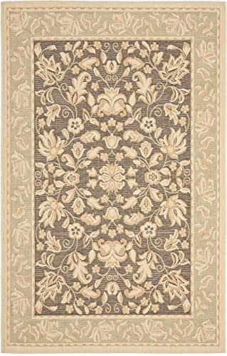 Safavieh Beach House Collection BCH8012-2852 Dark Brown and Green Area Rug 6 7 x 9 6