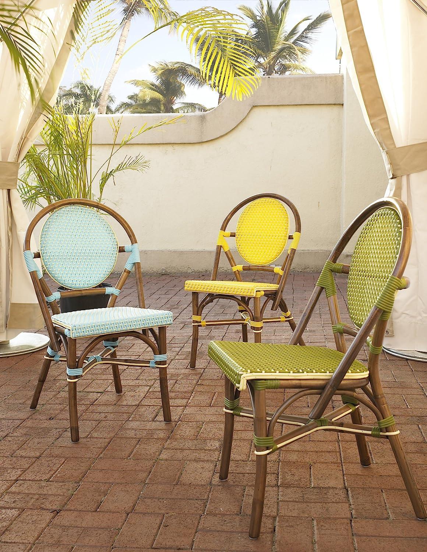 Amazon.com: Padmau0027s Plantataion Paris Bistro Chair, Blue: Kitchen U0026 Dining