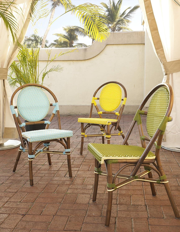 Superior Amazon.com: Padmau0027s Plantataion Paris Bistro Chair, Blue: Kitchen U0026 Dining