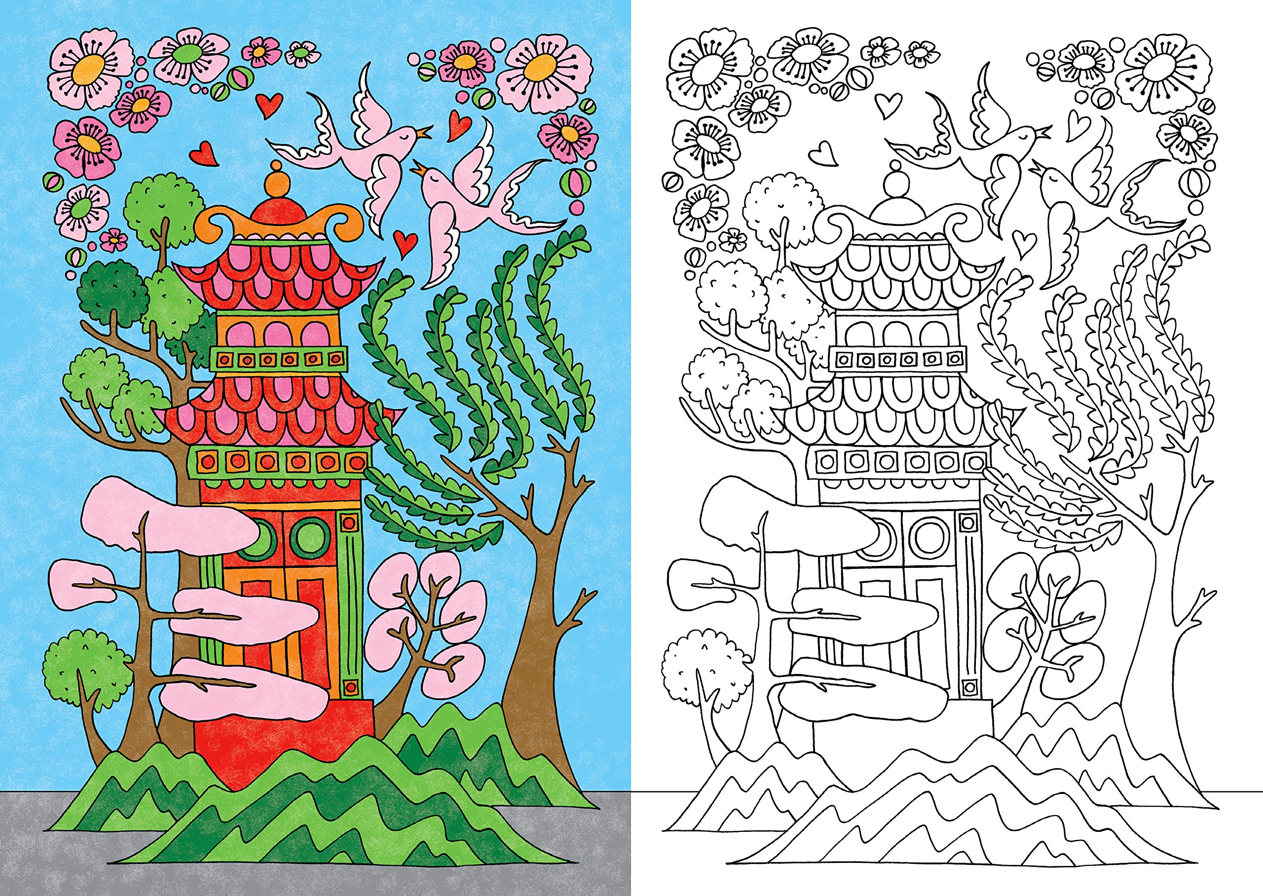 Beautiful Copycat Coloring: Pretty Pictures to Copy and Complete ...