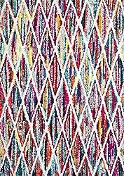 nuLOOM Geometric Soft Rainbow Striped Abstract Trellis Area Rug